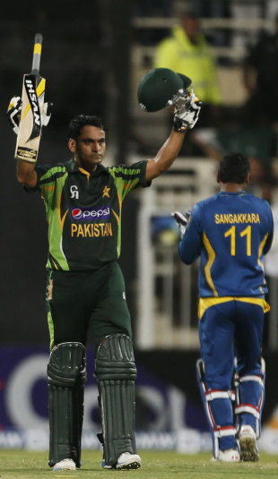 Mohammad Hafeez scored his second ton in three games