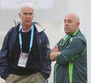 John Inverarity and Darren Lehmann at an Australia training session, Melbourne, December 23, 2013