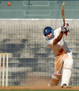 Vineet Saxena lofts one through cover, Tamil Nadu v Rajasthan, Ranji Trophy, Group B, 2nd day, Chennai, December 23, 2013