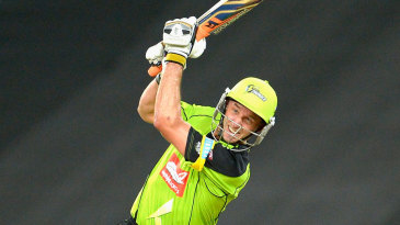 Michael Hussey goes over the top