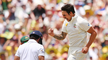 Mitchell Johnson trapped Alastair Cook lbw