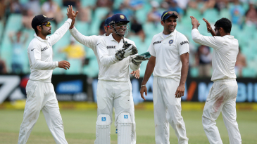 India have a few laughs after a Ravindra Jadeja strike