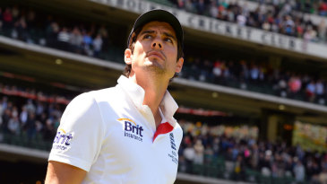 Alastair Cook contemplates another defeat for England