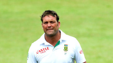 Jacques Kallis leaves the outfield in Durban with a century to his name in his final Test