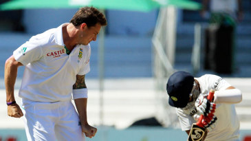 Dale Steyn picked up two wickets in a fiery spell