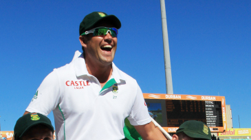 Jacques Kallis is carried around Kingsmead by his team-mates