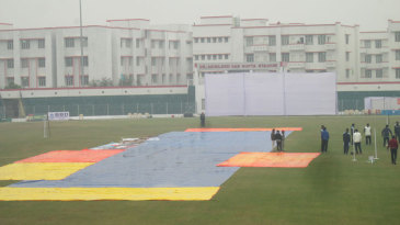 No play was possible on the second day due to rain
