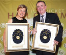 Debbie Hockley and Bob Simpson at the ICC's Hall of Fame Induction, Sydney, January 2, 2014