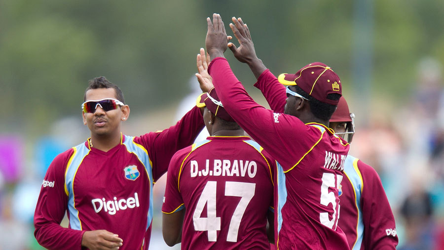 Sunil Narine picked up a wicket in an economical spell