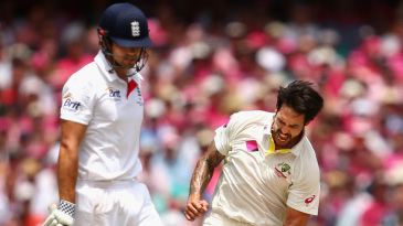 Mitchell Johnson removed Alastair Cook for a final time in the series