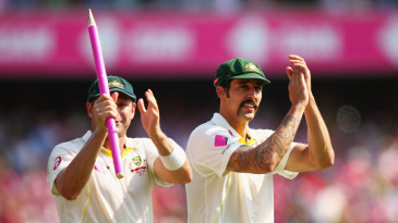 The destroyers: Ryan Harris and Mitchell Johnson
