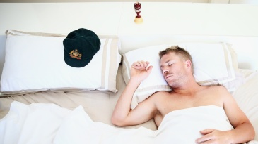 David Warner at a photo shoot in his home, the morning after Australia won the Ashes 5-0