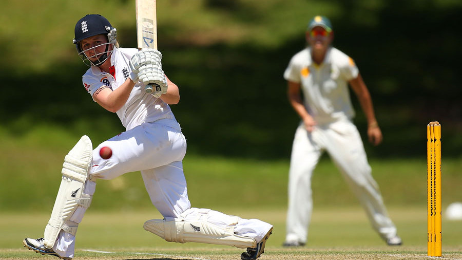 Heather Knight clips into the leg side during her innings of 123