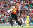 Simon Katich chips one on the off side, Sydney Sixers v Perth Scorchers, Big Bash League, Sydney, January 10, 2014