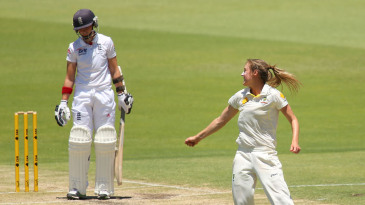 Ellyse Perry halted England's recovery by removing Arran Brindle
