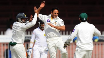Abdur Rehman struck in the first over after lunch