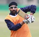 Hardeep Singh during a practice session, Dharamsala, February 17, 2013