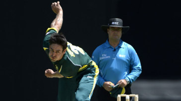 Mitchell Johnson in his delivery stride