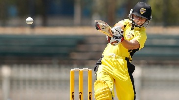 Nicole Bolton attacks the leg side during her 47-ball 46