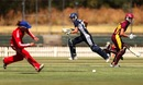 Sarah Elliott and Jess Jonassen complete a run during their 57-run stand, CA Chairman's Women's XI v England Women, Melbourne, January 17, 2014
