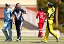 Kristen Beams is congratulated after a wicket, CA Chairman's Women's XI v England Women, Melbourne, January 17, 2014