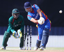 JJ Smit smashes one down the ground, Kenya v Namibia, World Cup 2015 qualifiers, Mount Maunganui, January 17, 2014
