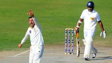 Junaid Khan had Rangana Herath lbw for a first-ball duck