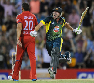 James Faulkner struck 25 from his last seven deliveries to pull off a dramatic run chase