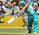 Ben McDermott clubs one over the off side, Heat v Strikers, Big Bash League 2013-14, Adelaide, January 18, 2014