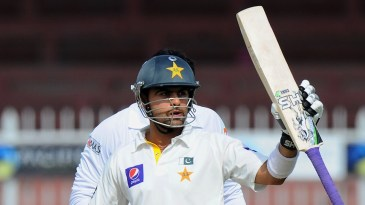 Ahmed Shehzad reached 50 off 150 balls