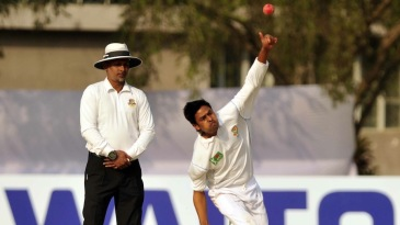 Taijul Islam took seven of the eight wickets on the first day
