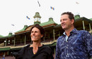 Mark Waugh and Belinda Clark pose during the 2014 Australian Cricket Hall of Fame announcement, Sydney, January 19, 2014