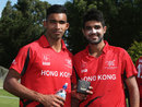 Irfan Ahmed and Waqas Barkat shared an unbeaten 154-run opening stand, Hong Kong v Nepal, ICC World Cup 2015 Qualifier, Group A, Rangiora, January 19, 2014