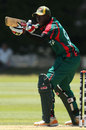 Alex Obanda celebrates after scoring a fifty, Kenya v Uganda, ICC World Cup 2015 Qualifier, Group B, Mount Maunganui, January 19, 2014
