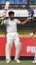 Sangram Atitkar celebrates his fourth first-class hundred, Bengal v Maharashtra, Ranji Trophy, semi-final, Indore, 2nd day, January 19, 2014