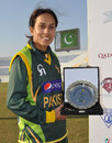 Nain Abidi was named Player of the Match, Pakistan v South Africa, PCB Qatar Women's 20-over Tri-Series, Doha, January 19, 2014