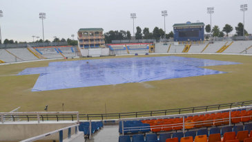Play was called off due to heavy rain on the first day