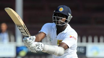 Angelo Mathews was caught on the hook