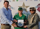 Lizelle Lee was named the Player for the Match for her half-century, Ireland v South Africa, PCB Qatar Women's 20-over Tri-Series, Doha, January 20, 2014