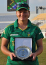 Lizelle Lee with her Player for the Match award, Ireland v South Africa, PCB Qatar Women's 20-over Tri-Series, Doha, January 20, 2014