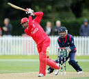 Raza-ur-Rehman goes on the attack, Canada v Nepal, ICC World Cup Qualifier, Group A, Christchurch, January 21, 2014