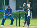 Yasoda Mendis drives one on the up, India v Sri Lanka, 2nd women's ODI, Visakhapatnam, January 21, 2014