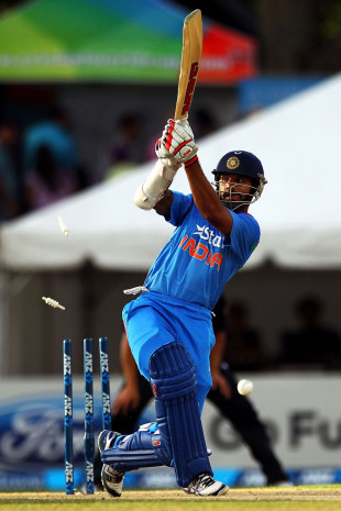MS Dhoni said some of his batsmen were under pressure to play to the reputations they had built, something which could apply to Shikhar Dhawan