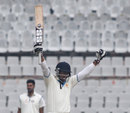 Amit Verma is delighted after his century, Punjab v Karnataka, Ranji Trophy semi-final, 4th day, Mohali, January 21, 2014