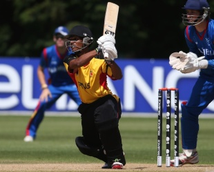 Lega Siaka scored a match-winning century,  Namibia v Papua New Guinea, ICC Cricket World Cup Qualifier, Mount Maunganui, January 23, 2014