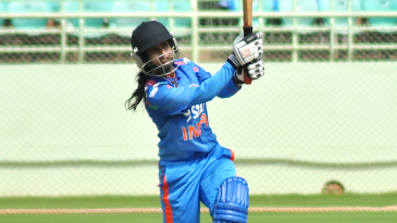 Mithali Raj launches into one during her century