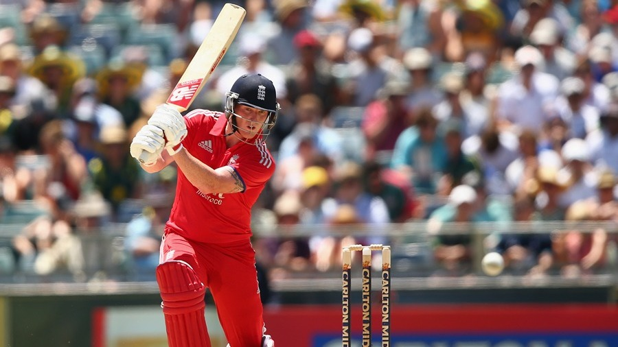 Ben Stokes drives through the off side