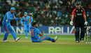 Munaf Patel caught Kevin Pietersen off his own bowling, World Cup, Group B, Bangalore, February 27, 2011