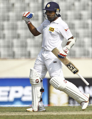 Mahela Jayawardene surpassed Allan Border's tally of 11,174 Test runs