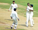 Abhimanyu Mithun took two wickets on the first day, Karnataka v Maharashtra, Ranji Trophy final, 1st day, Hyderabad, January 29, 2014
